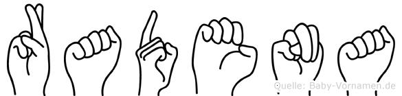 Radena in Fingersprache für Gehörlose