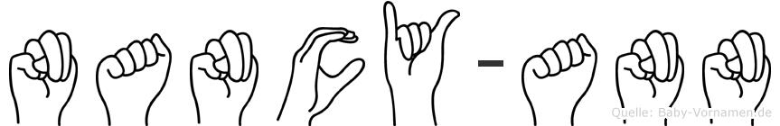 Nancy-Ann im Fingeralphabet der Deutschen Gebärdensprache