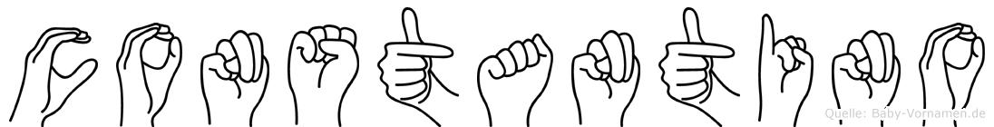 Constantino im Fingeralphabet der Deutschen Gebärdensprache