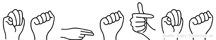 Mahatma in Fingersprache für Gehörlose