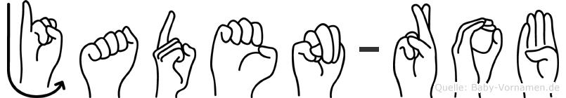 Jaden-Rob im Fingeralphabet der Deutschen Gebärdensprache