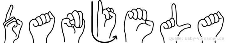Danjela im Fingeralphabet der Deutschen Gebärdensprache