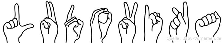Ludovika im Fingeralphabet der Deutschen Gebärdensprache