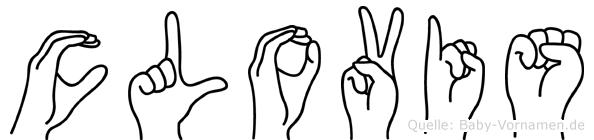 Clovis im Fingeralphabet der Deutschen Gebärdensprache