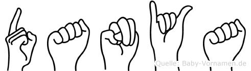Danya im Fingeralphabet der Deutschen Gebärdensprache