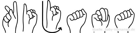 Kijana im Fingeralphabet der Deutschen Gebärdensprache