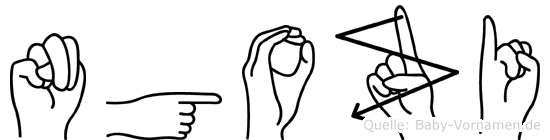 Ngozi in Fingersprache für Gehörlose