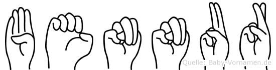 Bennur im Fingeralphabet der Deutschen Gebärdensprache