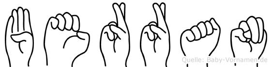Berran in Fingersprache für Gehörlose