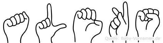 Aleks im Fingeralphabet der Deutschen Gebärdensprache