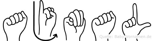 Ajmal im Fingeralphabet der Deutschen Gebärdensprache