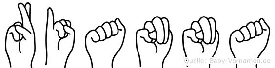 Rianna im Fingeralphabet der Deutschen Gebärdensprache
