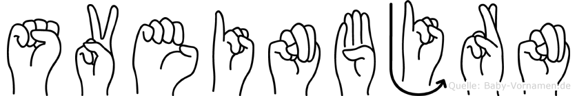 Sveinbjörn im Fingeralphabet der Deutschen Gebärdensprache