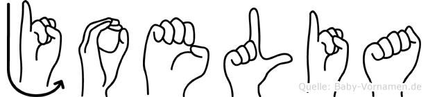 Joelia im Fingeralphabet der Deutschen Gebärdensprache