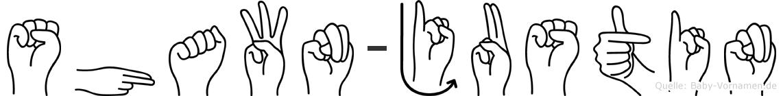 Shawn-Justin im Fingeralphabet der Deutschen Gebärdensprache