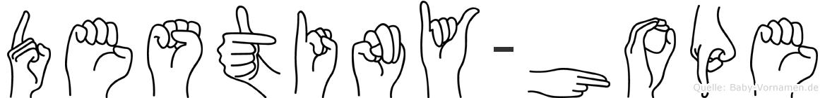 Destiny-Hope im Fingeralphabet der Deutschen Gebärdensprache