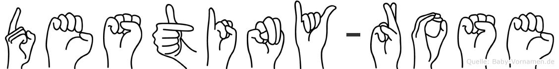 Destiny-Rose im Fingeralphabet der Deutschen Gebärdensprache