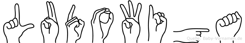 Ludowiga im Fingeralphabet der Deutschen Gebärdensprache