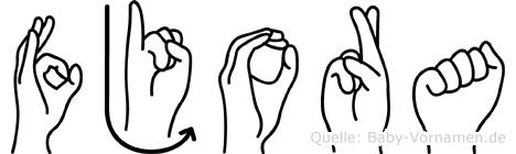 Fjora im Fingeralphabet der Deutschen Gebärdensprache