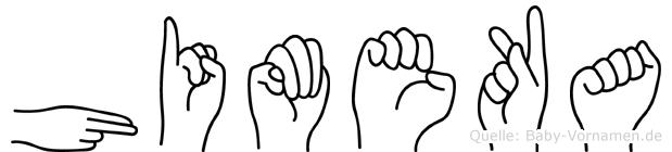 Himeka im Fingeralphabet der Deutschen Gebärdensprache