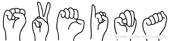 Sveina in Fingersprache für Gehörlose