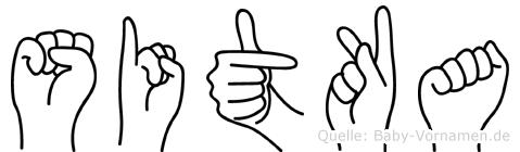 Sitka in Fingersprache für Gehörlose