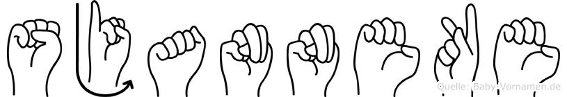 Sjanneke in Fingersprache für Gehörlose