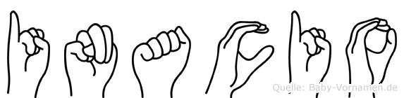 Inacio im Fingeralphabet der Deutschen Gebärdensprache