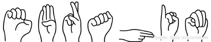 Ebrahim in Fingersprache für Gehörlose