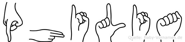Philia in Fingersprache für Gehörlose