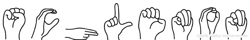 Schlemon in Fingersprache für Gehörlose