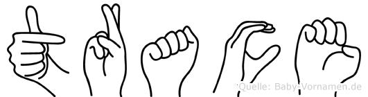 Trace in Fingersprache für Gehörlose