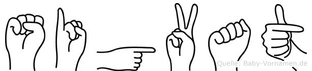 Sigvat im Fingeralphabet der Deutschen Gebärdensprache