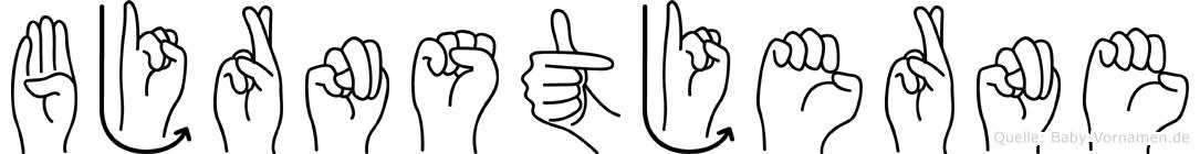 Björnstjerne in Fingersprache für Gehörlose