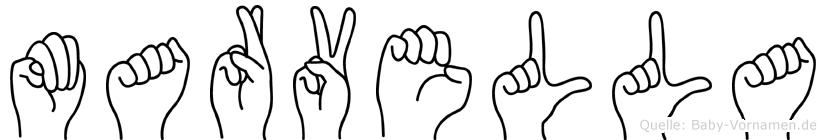 Marvella im Fingeralphabet der Deutschen Gebärdensprache