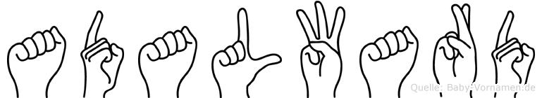 Adalward in Fingersprache für Gehörlose
