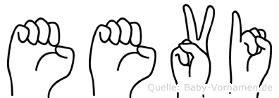 Eevi in Fingersprache für Gehörlose