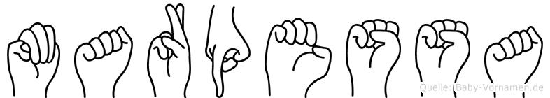 Marpessa in Fingersprache für Gehörlose