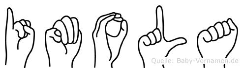 Imola in Fingersprache für Gehörlose