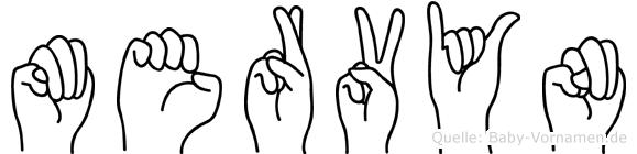 Mervyn im Fingeralphabet der Deutschen Gebärdensprache