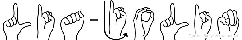 Lia-Jolin im Fingeralphabet der Deutschen Gebärdensprache