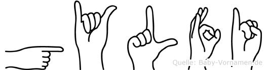 Gylfi im Fingeralphabet der Deutschen Gebärdensprache
