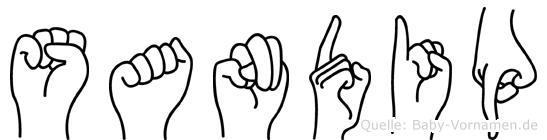 Sandip in Fingersprache für Gehörlose