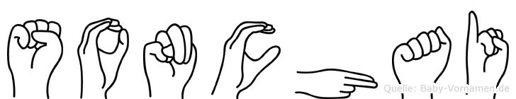 Sonchai im Fingeralphabet der Deutschen Gebärdensprache