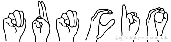 Nuncio in Fingersprache für Gehörlose