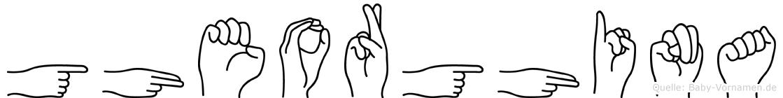 Gheorghina im Fingeralphabet der Deutschen Gebärdensprache