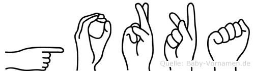 Gorka in Fingersprache für Gehörlose