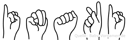 Inaki im Fingeralphabet der Deutschen Gebärdensprache