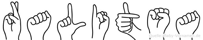 Ralitsa im Fingeralphabet der Deutschen Gebärdensprache
