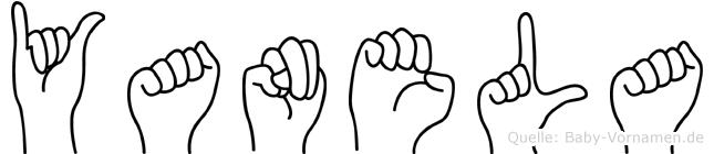 Yanela im Fingeralphabet der Deutschen Gebärdensprache